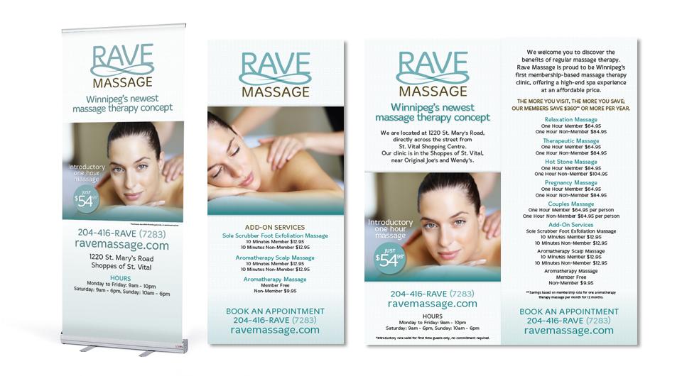 Rave Massage Marketing Materials