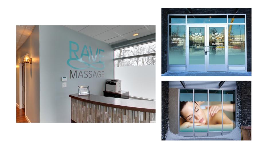 Rave Massage Signage