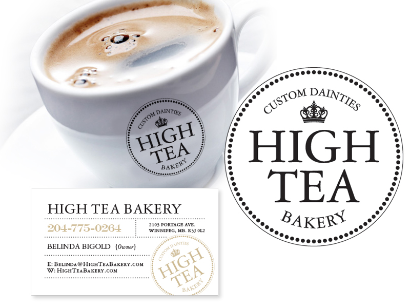 High Tea Bakery Branding