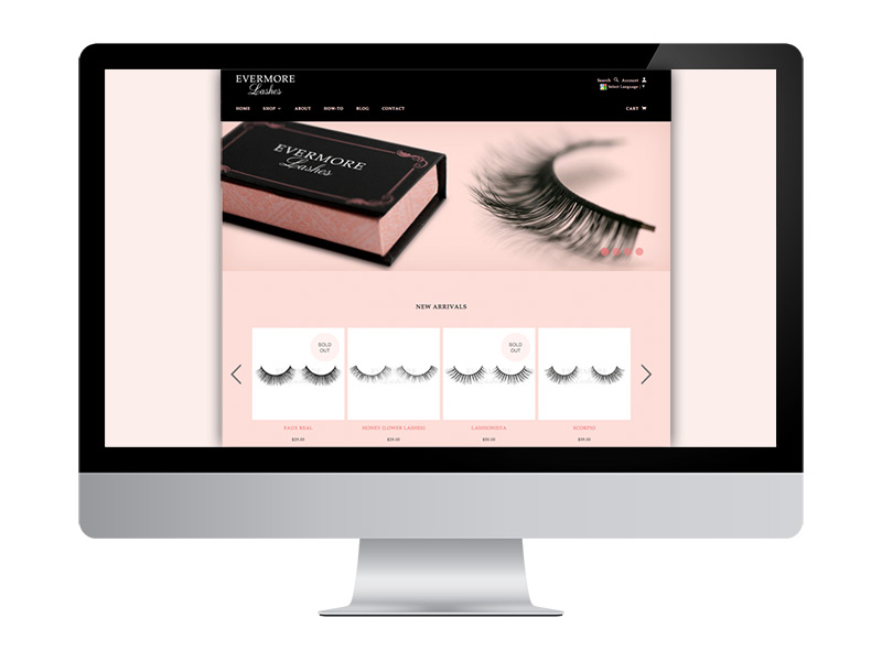Evermore Lashes Website