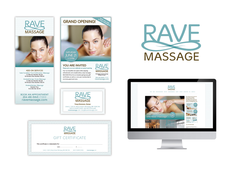 Rave Massage Branding